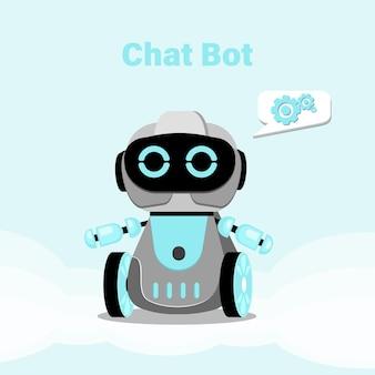 Concetto di chatbot. consultazione in linea. illustrazione vettoriale piatto.