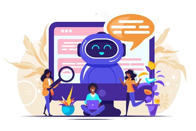 Illustrazione di chatbot