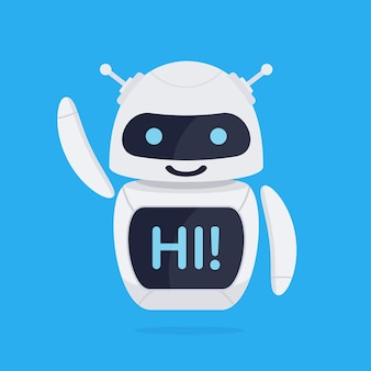 Concetto di robot chatbot.
