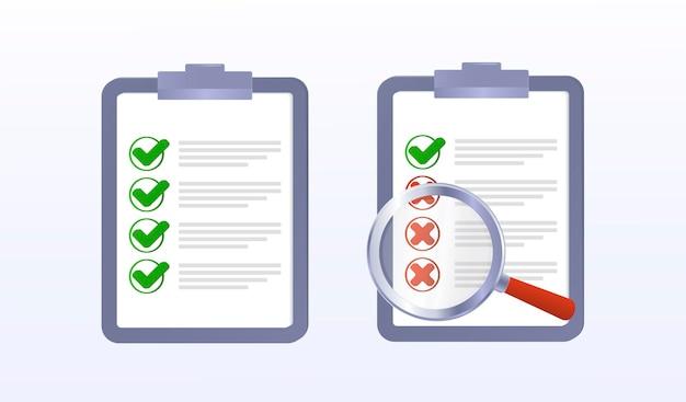Lista di controllo sul tablet scelta sì o no richiamo del voto stile piatto isolato corretto errato
