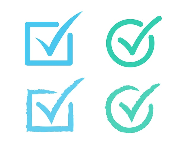 Icona del segno di spunta icona della lista di controllo del segno di spunta