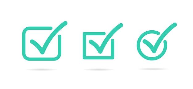 Segno di spunta selezionare l'elenco di controllo