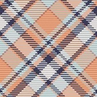 Controllare la trama del tessuto scozzese senza cuciture. tessuto con stampa diagonale