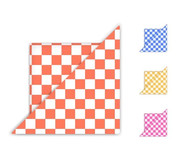 Set di tovaglioli a scacchi