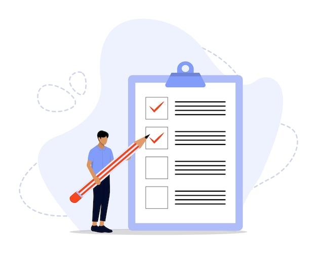 Illustrazione del concetto di lista di controllo