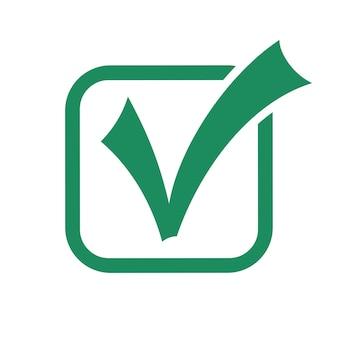 Icona del segno di spunta. segno di spunta spunta il simbolo corretto. ok, segno approvato. illustrazione vettoriale isolato