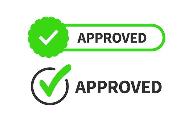 Segno di spunta o segno di spunta isolato su sfondo bianco. segno - approvazione, accettazione, risposta giusta, corretta e positiva. Vettore Premium