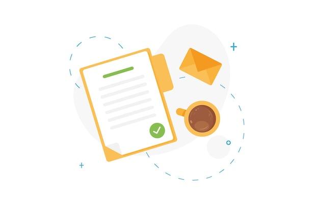 Documento contrassegnato o elenco delle attività completate