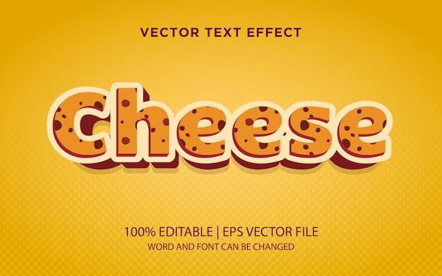 Formaggio 3° stile di testo, effetto testo modificabile