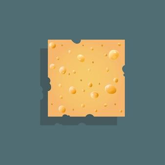 Sfondo di formaggio realistico trama vettoriale senza soluzione di continuità di formaggio