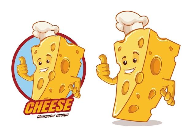 Mascotte del personaggio dei cartoni animati di formaggio