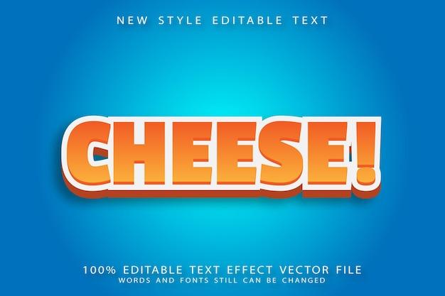 L'effetto di testo modificabile al formaggio in rilievo in stile moderno