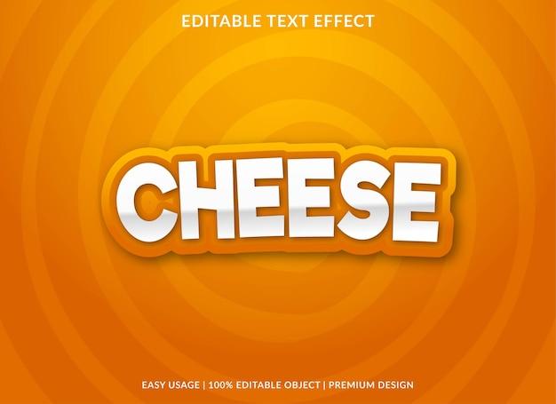 Effetto testo modificabile formaggio stile premium