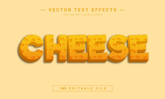 Effetto testo modificabile formaggio