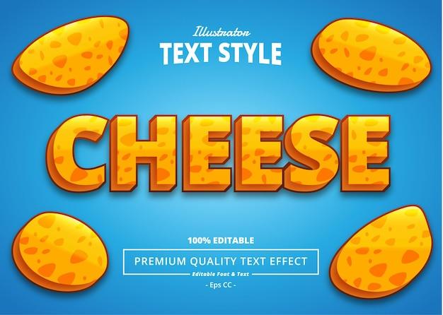 Effetto testo di cheese illustrator
