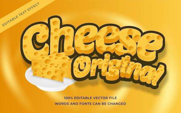 Effetto di testo originale cheese modificabile per illustrator