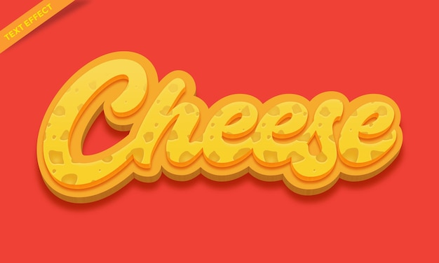 Modello di design effetto testo formaggio