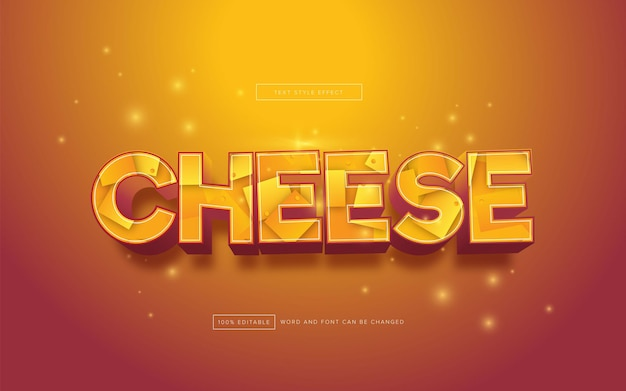 Effetto testo formaggio modificabile
