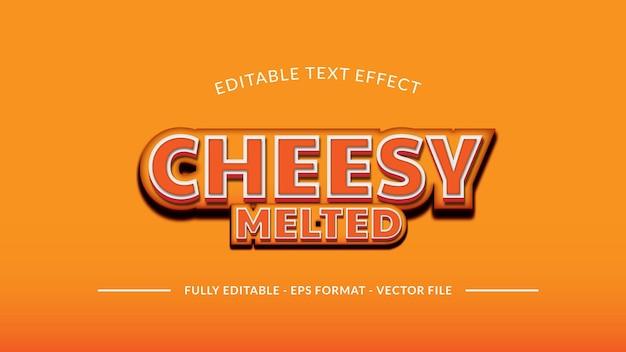 Effetto di testo fuso di formaggio