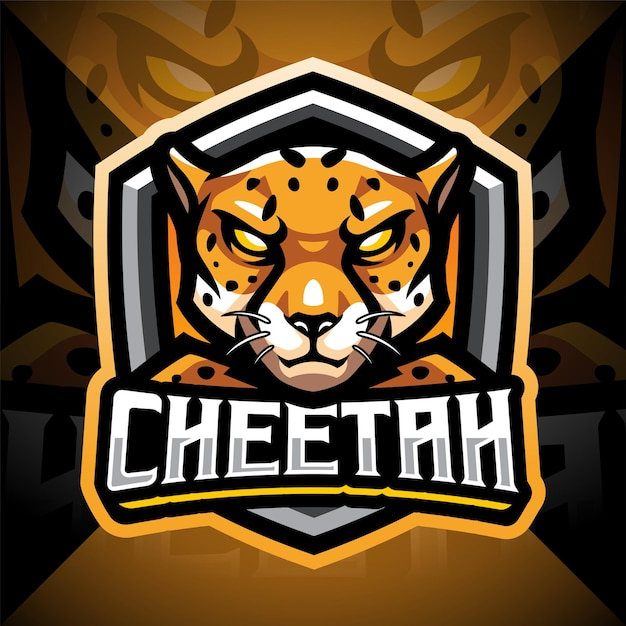 Cheetah esport mascotte logo design