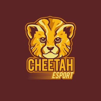 Illustrazione della mascotte di logo di sport ghepardo