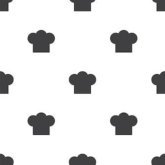 Cappello da chef, motivo vettoriale senza soluzione di continuità, modificabile può essere utilizzato per sfondi di pagine web, riempimenti a motivo