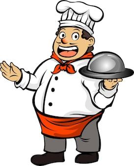 Vettore dell'illustrazione dell'icona dello chef