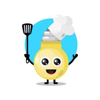Lampada da chef simpatico personaggio mascotte