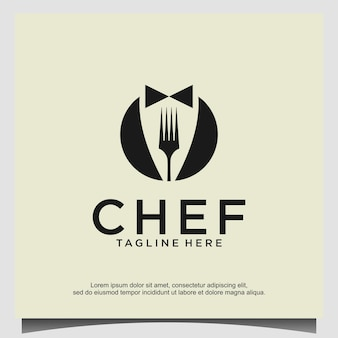 Modello di vettore di progettazione logo chef