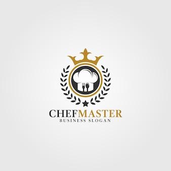 Modello logo del chef master