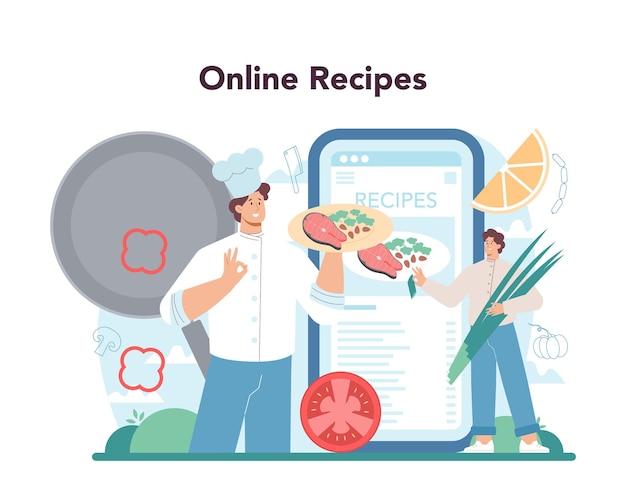 Servizio o piattaforma online chef
