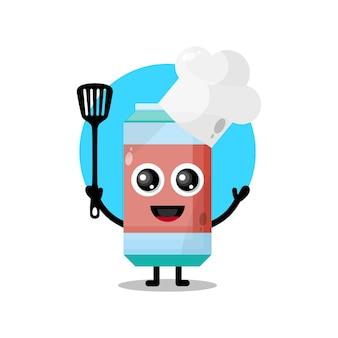 Chef bibita simpatico personaggio mascotte