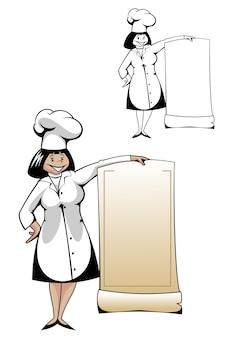 Chef con menu