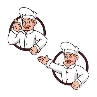 Chef retrò mascotte