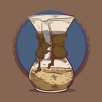 Chemax illustrazione incisione stile