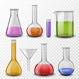 Illustrazione di sfondo chimico