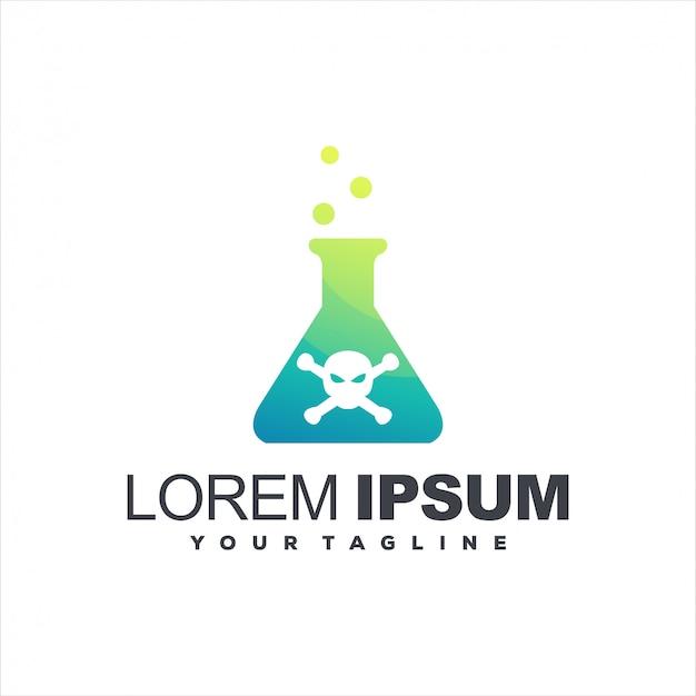 Design del logo bottiglia di veleno chimico