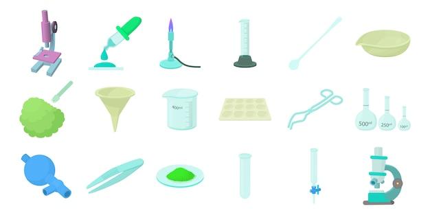 Set di icone di strumenti chimici