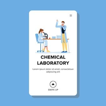 Chimici che lavorano in laboratorio chimico