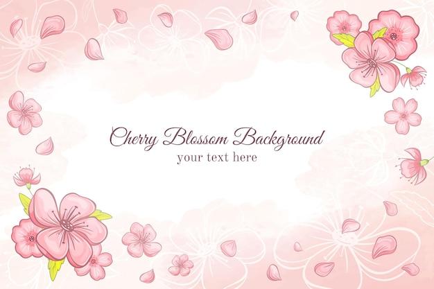 Sfondo di fiori di ciliegio primavera