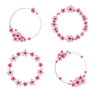 Ghirlande di fiori di ciliegio