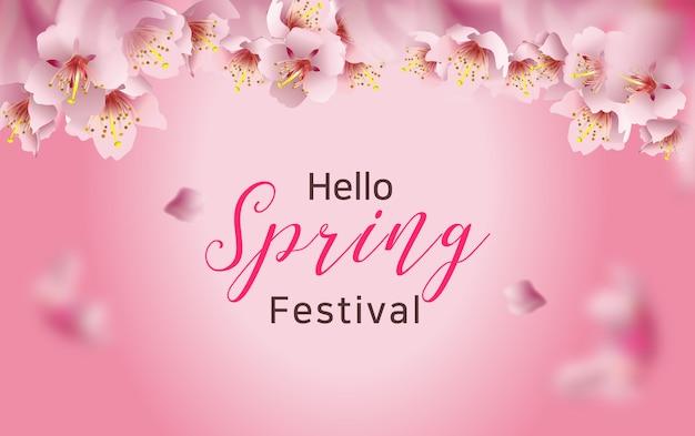 Festival di primavera di fiori di ciliegio