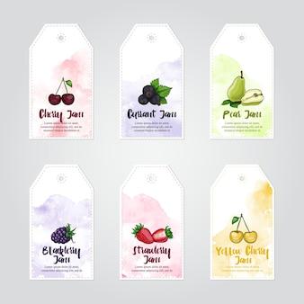 Confetture di ciliegie, ribes, pere, more, fragole