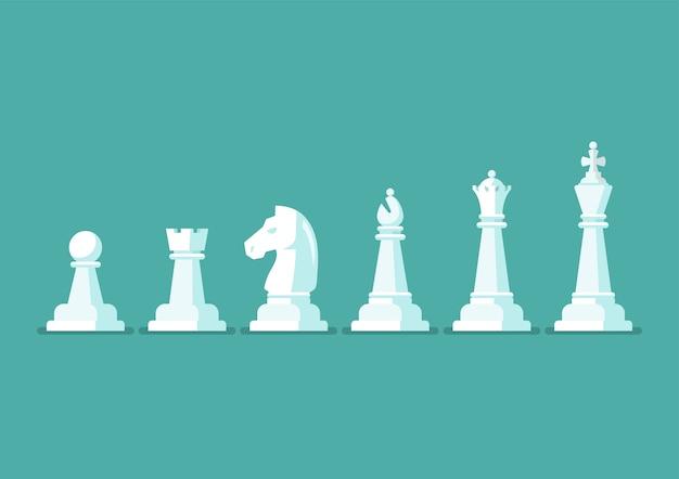 Set di icone vettoriali pezzo di scacchi