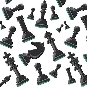 Illustrazione vettoriale di design colorato sfondo pezzi degli scacchi
