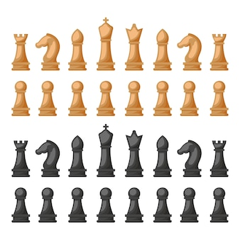 Disegno dell'illustrazione del fondo dei pezzi degli scacchi