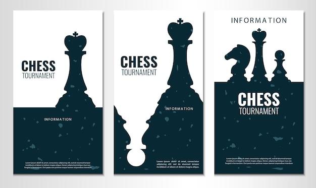 Set di banner del torneo di scacchi