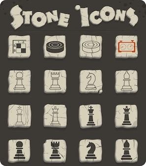 Icone web di scacchi per la progettazione dell'interfaccia utente