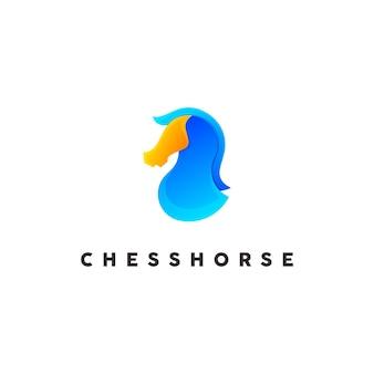 Cavallo degli scacchi Vettore Premium