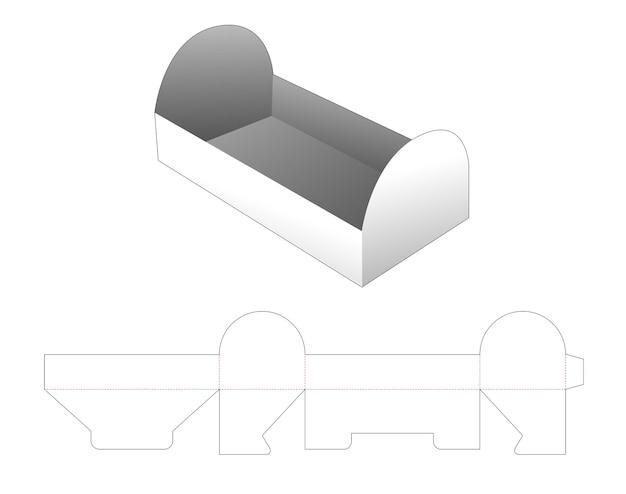 Modello fustellato vassoio a forma di petto